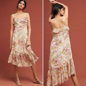 Anthropologie Meadow Rue   Floral Midi Dress new